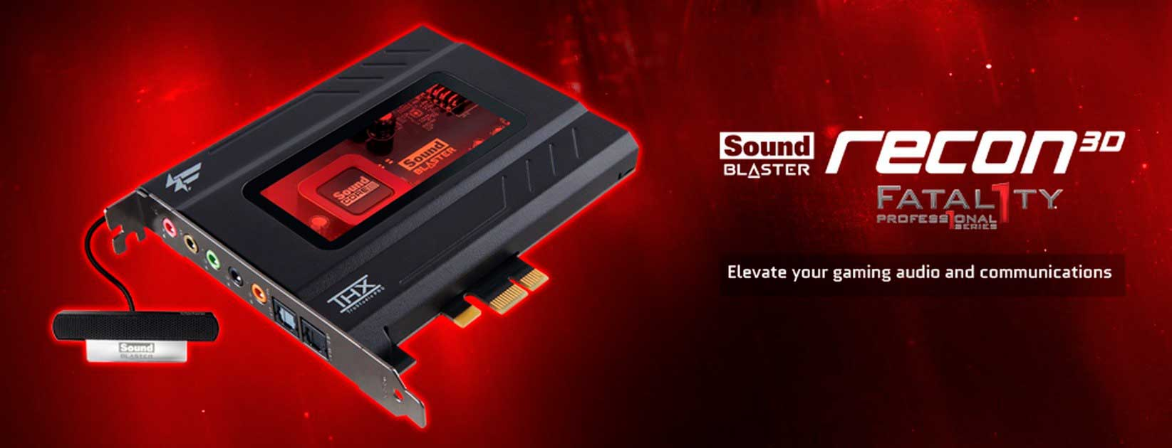 Creative Sound Blaster Recon3D Fatal1ty Professional Audio Drivers for Windows XP